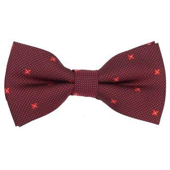 Men's bow tie (cotton, red, texture) 52543