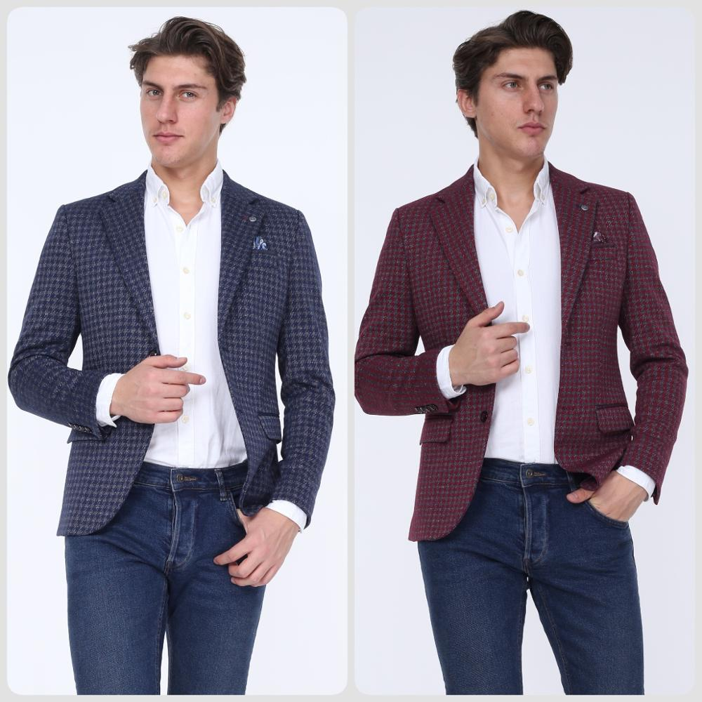 MENS BLAZER JACKET OWEN 20262 Blazers Gift For Men SLIM FIT MADE IN TURKEY REAL EUROPEAN SIZE 2020 Style Стильный дизайн