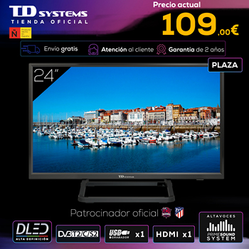 TVs 24 inch TD Systems K24DLX10H. HDMI, VGA, USB recorder, DVB-T2/C/S2 [shipping from Spain, 2 year warranty]