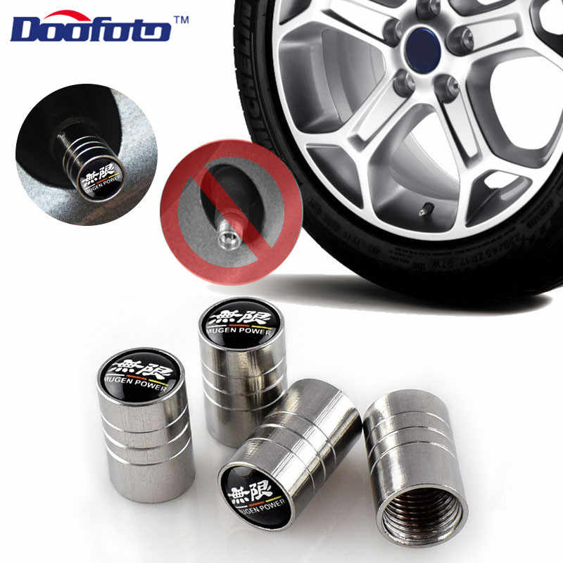 Doofoto 4x tampas de válvula carro roda pneu haste cobre para honda mugen civic accord crv hrv jazz acessórios do carro estilo