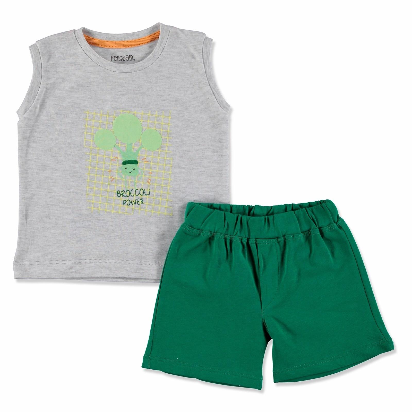 Ebebek HelloBaby Summer Baby Sweet Vegetables Sleeveless Athlete Top Short Set