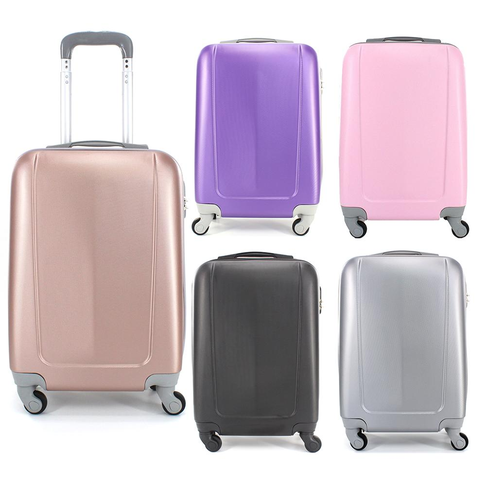 Suitcase Tickets Baggage De Hand Travel Cabin Trolley ABS Rigid 4 Wheel Castors