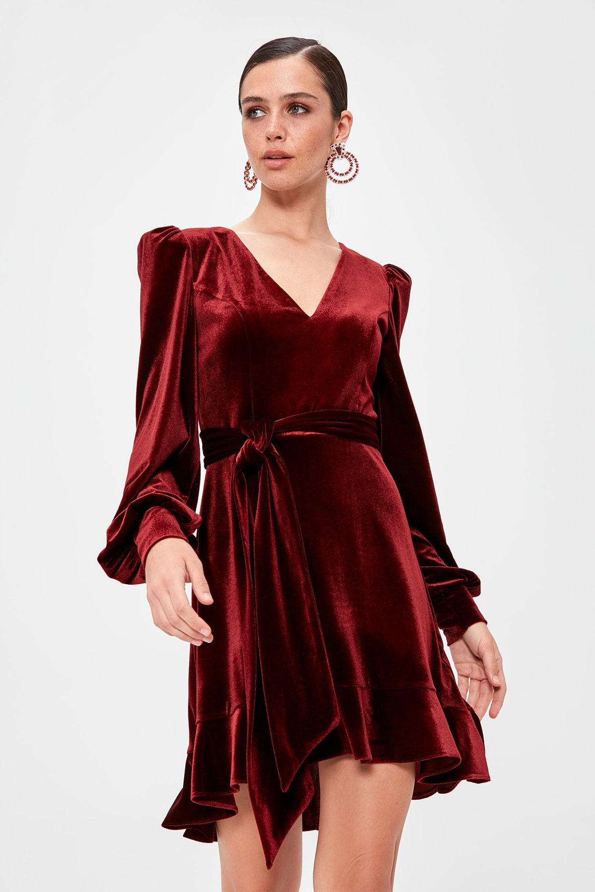 Trendyol Flounces Dress TPRAW20EL1543