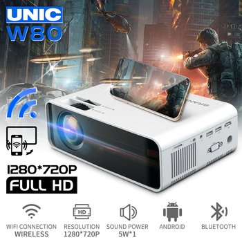 W80 Mini Projector with Android WiFi 3D LED Projector 3200Lumens TV Home Theater LCD Video USB VGA Support 3D HDMI VGA AV Beame