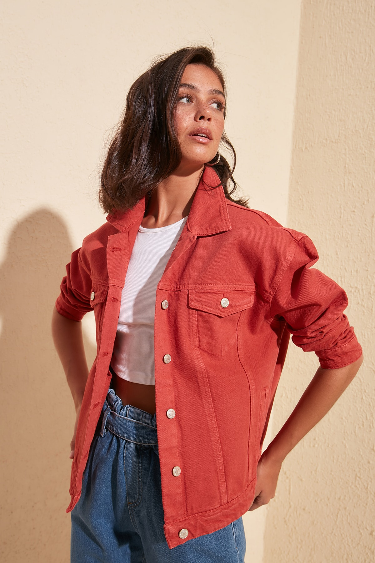 Trendyol Basic Denim Jacket TWOSS20CE0159