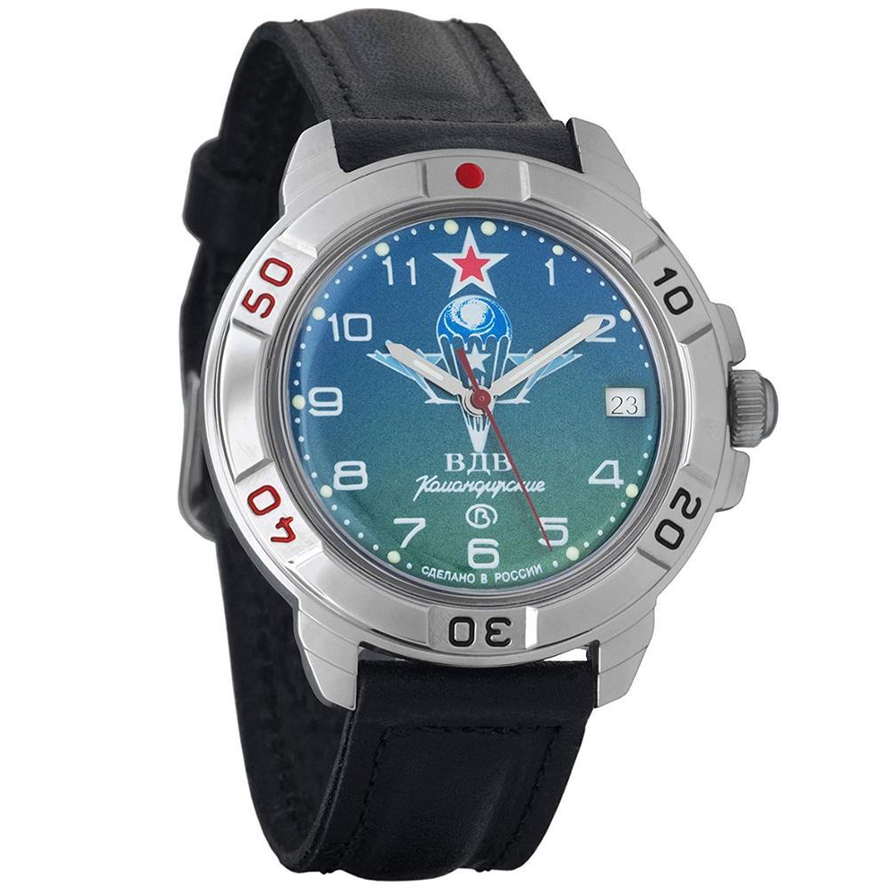Vostok Komandirskie 431818 Mechanical Russian Watch Hand-winding Paratrooper Airborne Russia