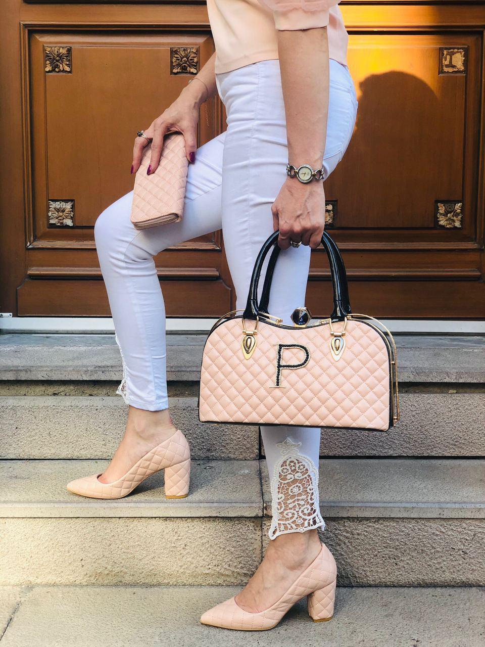 Women bag wallet and shoe