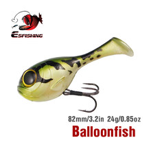 Kesfishing nova isca de pesca balloonfish 82mm 24g 1 pçs alta qualidade 2020 deraball