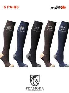 Pramoda 5 Pairs Horse Riding socks men and women - Knee Long Equestrian Socks