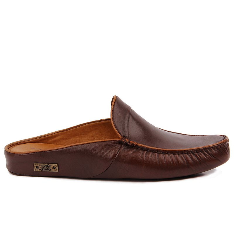 Sail-Lakers Genuine Leather Home Slipper
