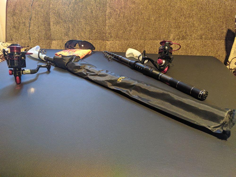 Varas de pescar Bobinas Conjunto Multifuncional