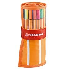Bag Stabilo with Original Fineliner-X-30pcs Bright-Color School Office 88-Roller-Set