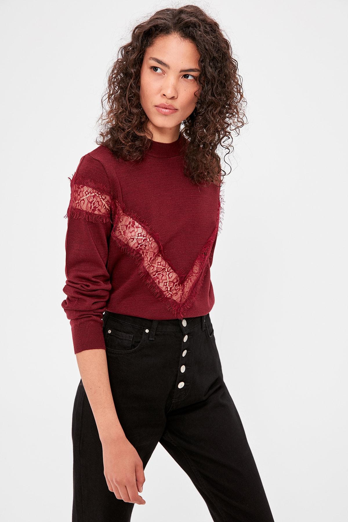 Trendyol Lace Detail Sweater Sweater TWOAW20IS0012