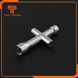 Mini M2 M2.5 M3 M4 Screw Nut Hexagonal Cross Wrench Sleeve Maintenance Tool 4 Size Cross Sleeve Wrench for Ender 3 MK8 Nozzle(China)