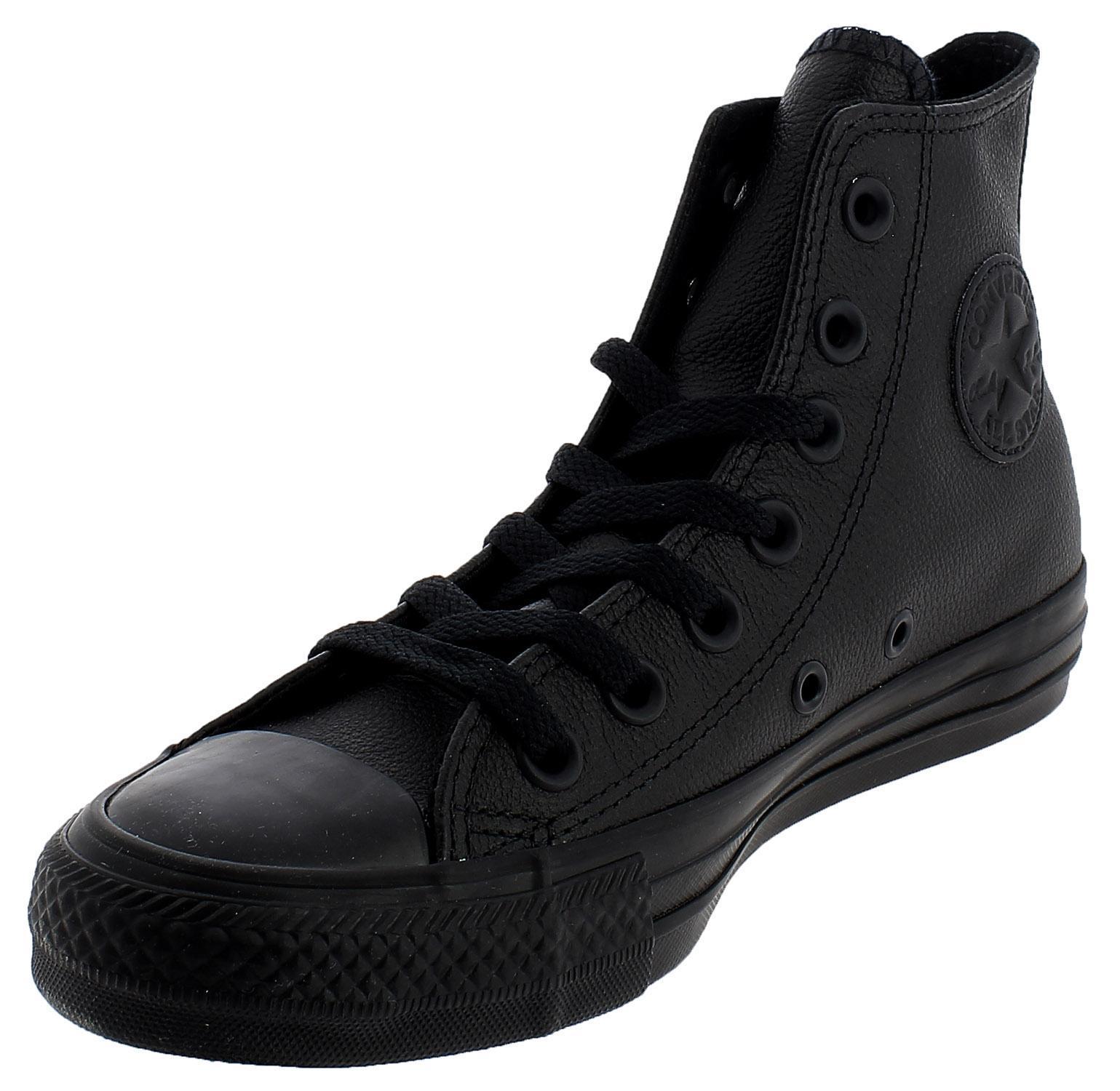 zapatillas all star de cuero negras