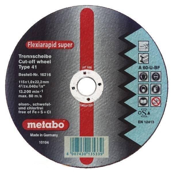 Circle Cutting METABO 125х1. 5х22 616196000