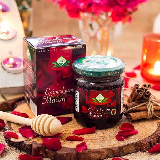 Themra Honey Herbal Paste 240Gr  Turkish Epimedium Paste Horny Goat Weed, Ginseng Herbal Aphrodisiac, Natural Health