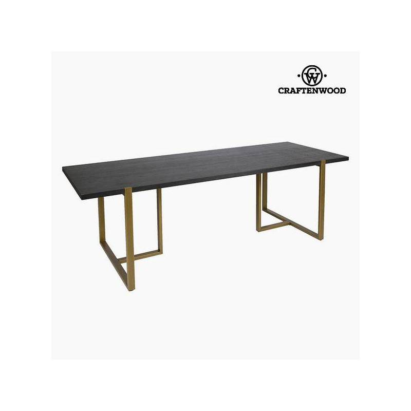 Dining Table Oak Wood Mdf (240x90x75 Cm) By Craftenwood