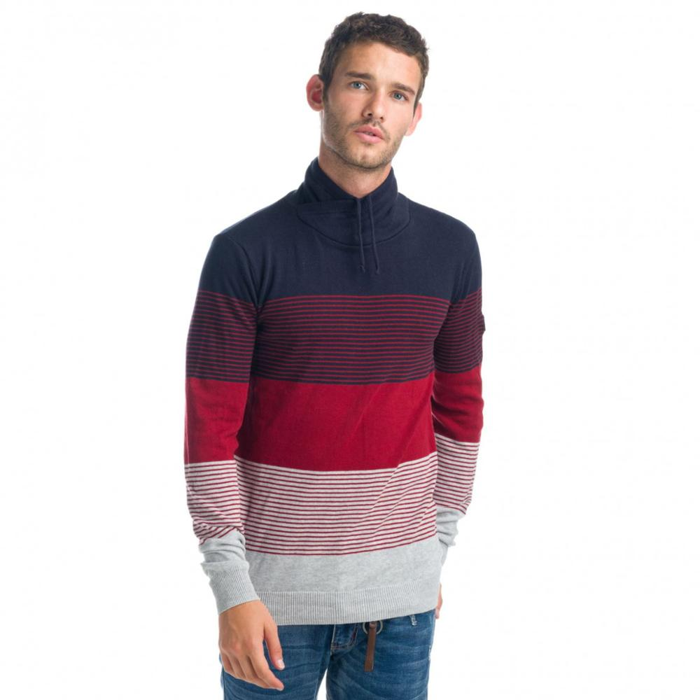 KOROSHI JERSEY KNIT TURTLENECK DOUBLE-BREASTED MAN