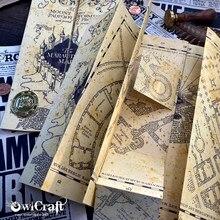 Карта Мародеров Гарри Поттера, карта Хогвартса