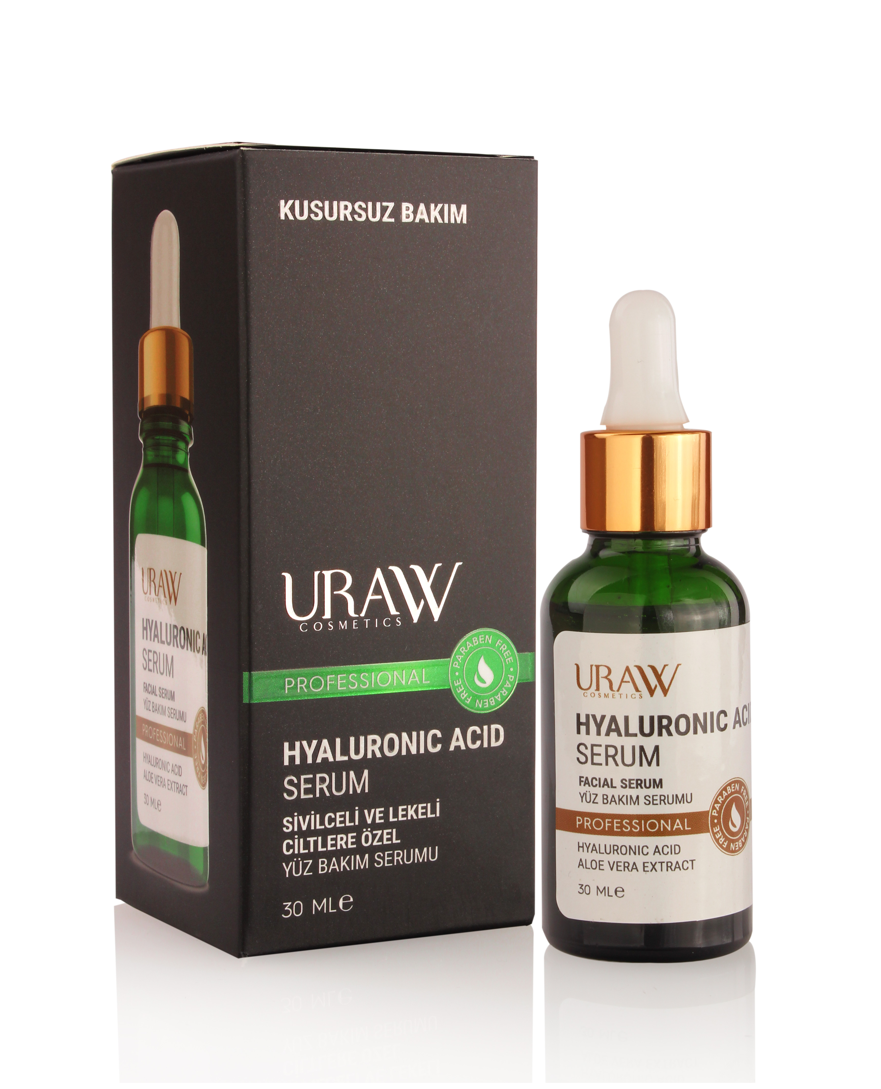 URAW HYALURONİC ACİD SERUM Special Face Care Serum For Spotty And Blemished Skin