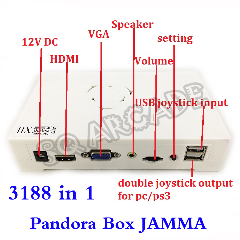999 In 1 Upgrade Version 3188 In 1 Jamma Pandora Box Multi Arcade Game Board Support VGA / HDMI HD For Video Games 53 Of 3D Game