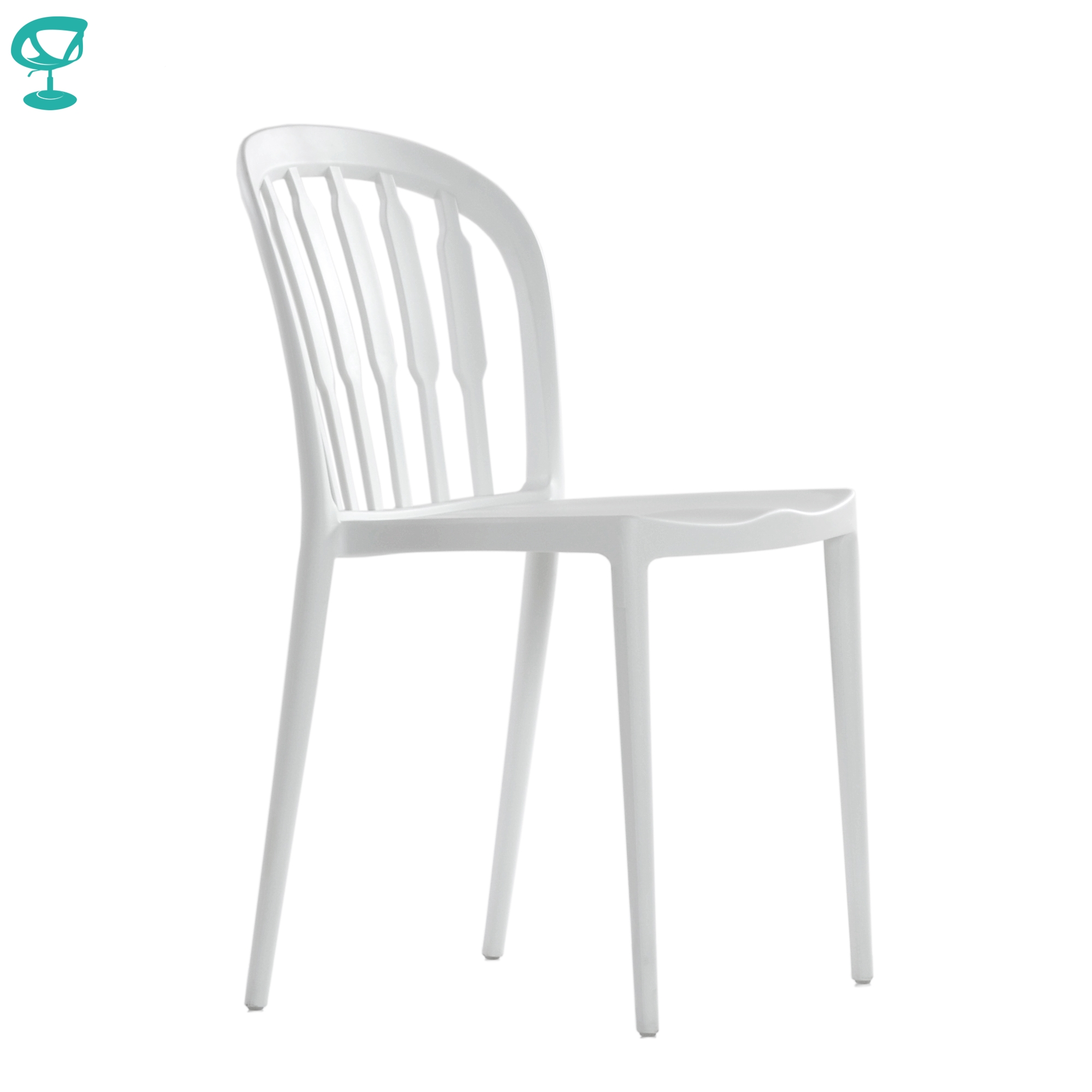 95719 Barneo N-216 Plastic Kitchen Interior Stool Chair For A Street Cafe Chair Kitchen Furniture White Free Shipping In Russia