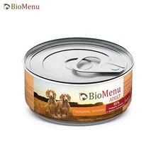 BioMenu ADULT Консервы д/собак Говядина/Ягненок 95%-МЯСО 100гр, 24 шт
