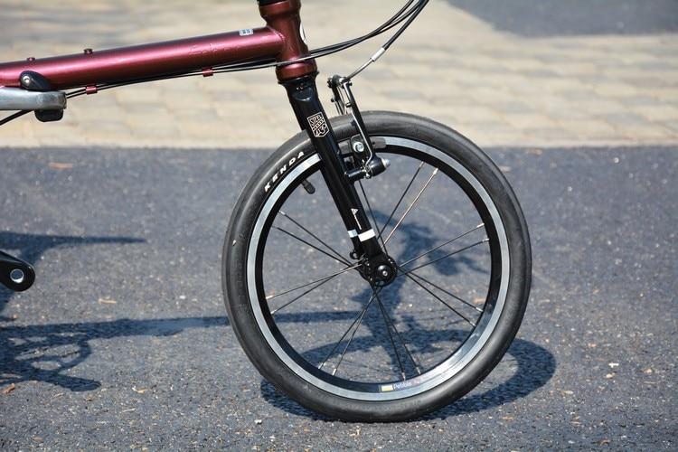 """U1092457c36024e18a38874376d498fbfN Fnhon Gust CR-MO Steel Folding Bike 16"""" 305 349 Minivelo Mini velo Bike Urban Commuter Bicycle V Brake 9 Speed"""
