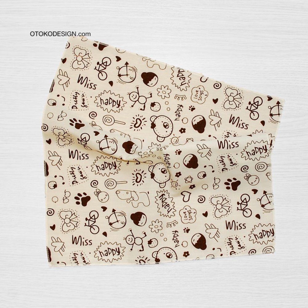 Pocket Square In Jacket Pocket Beige Happy (51832)
