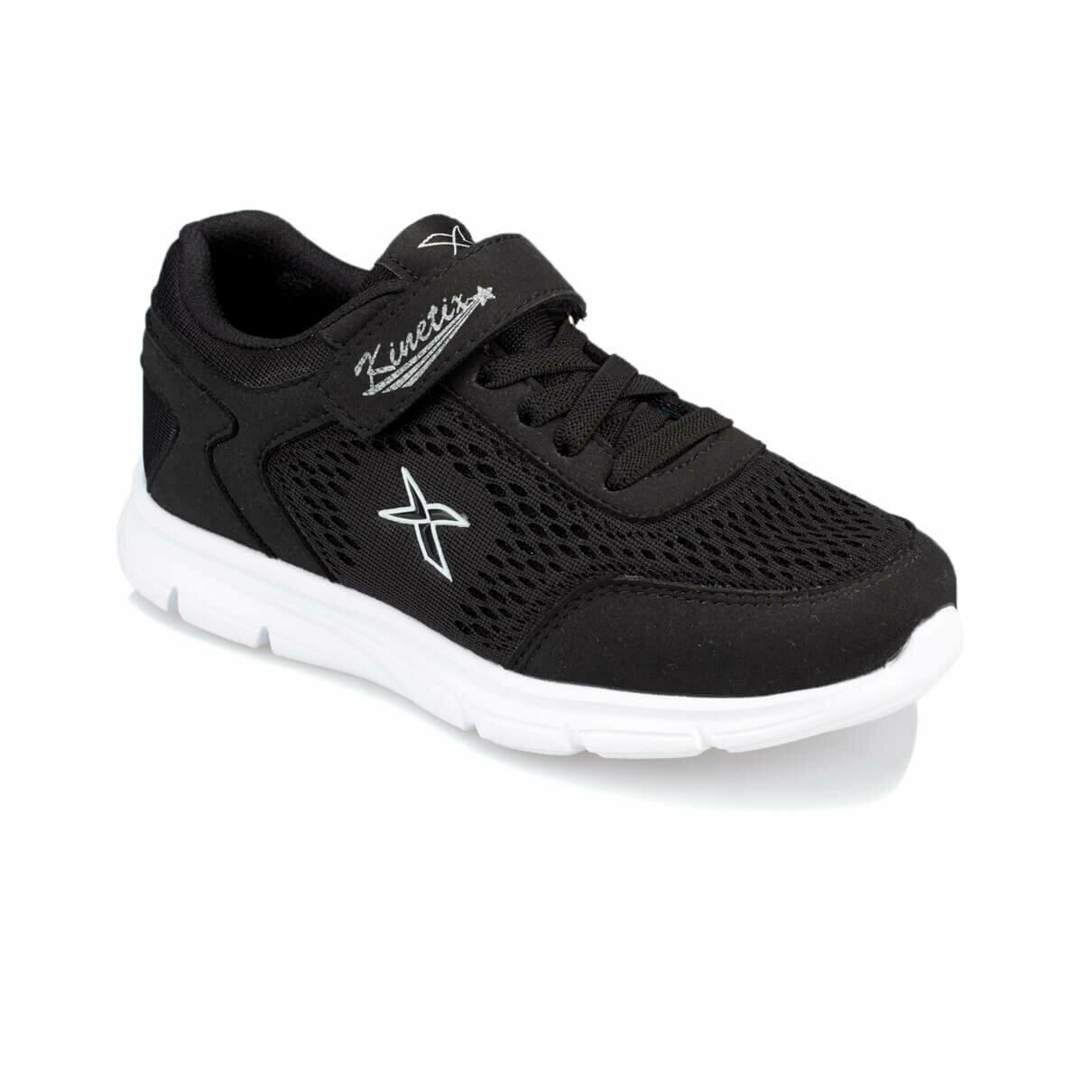 FLO ZUZEN Black Male Child Hiking Shoes KINETIX