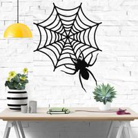 Metal Wall Art  Metal Spider Decor  Metal Wall Decor  Home Office Decoration  Spiderweb  Metal Sign  Wall Hangings