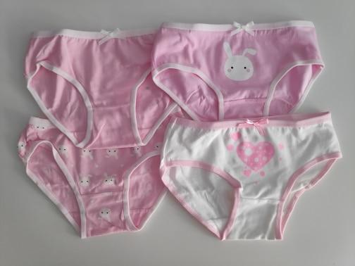 4pc/lot Cotton Panties for Kid Girls Cartoon Soft Underwear Panties Children Teenage Briefs Comfortable Underpants photo review