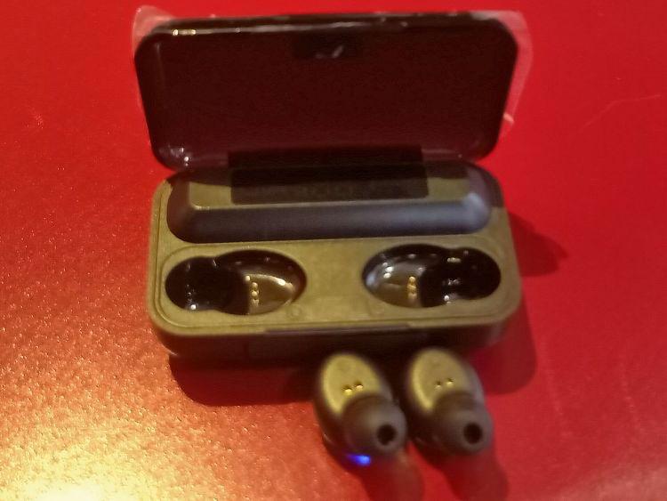 Écouteurs sans fil Bluetooth 5.0 avec boîte de charge 2200mAh, stéréo pour iphone