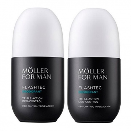 ANNE MOLLER FOR MAN FTHEHTEC TRIPLE ACTION DEODORANT CONTROL 75ML PACK 2 UNITS