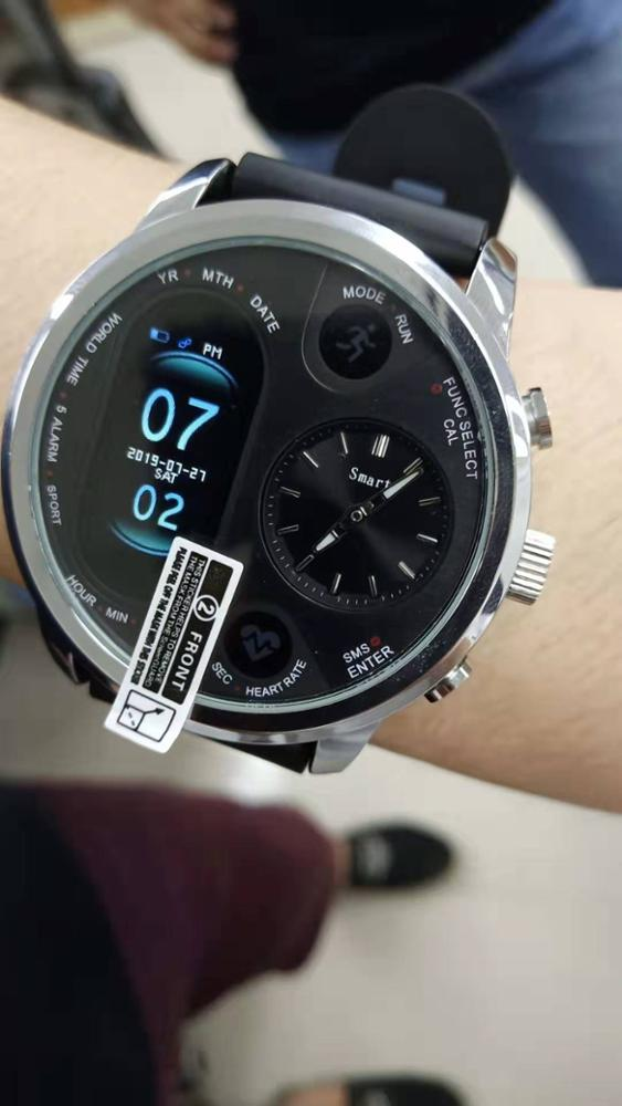 Keoker Smart Watch Men Business Dual Time Zone Display Heart Rate Monitor Fitness Tracker Waterproof Watch For Android IOS-in Smart Watches from Consumer Electronics on AliExpress