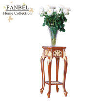 FANBEL furniture stand flowers classical shape walnut color with gold New