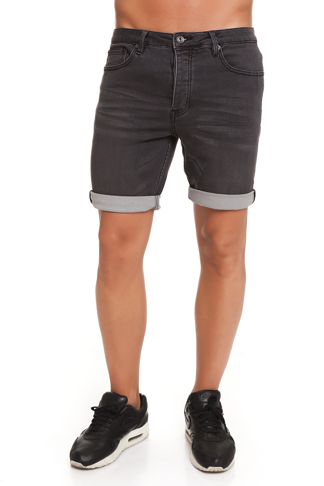 CR7 Trousers Short For Men Color Dark Grey Casual Causal Vaquros Short Female Ro Corta CRD046A