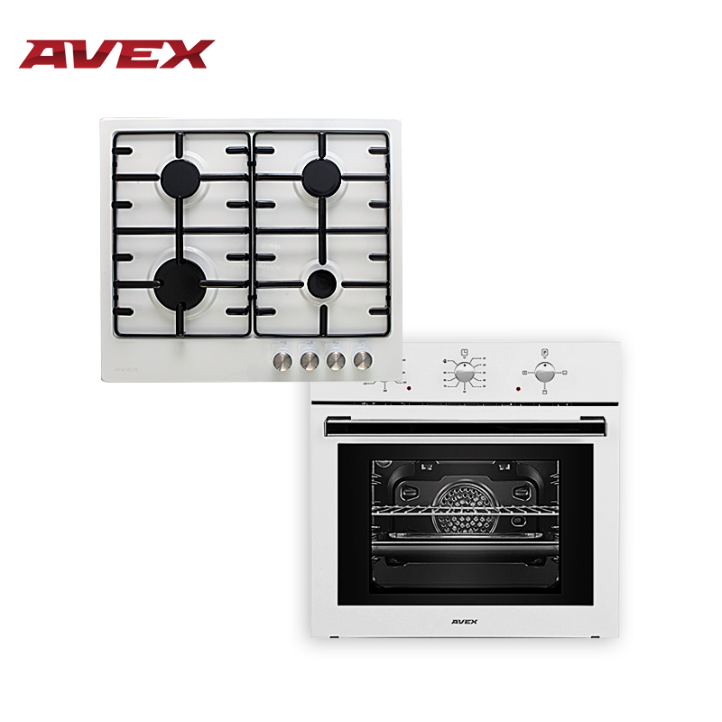Set the cooktop AVEX HS 6040 W and  electric oven AVEX HS 6030 avex sw 6030 white