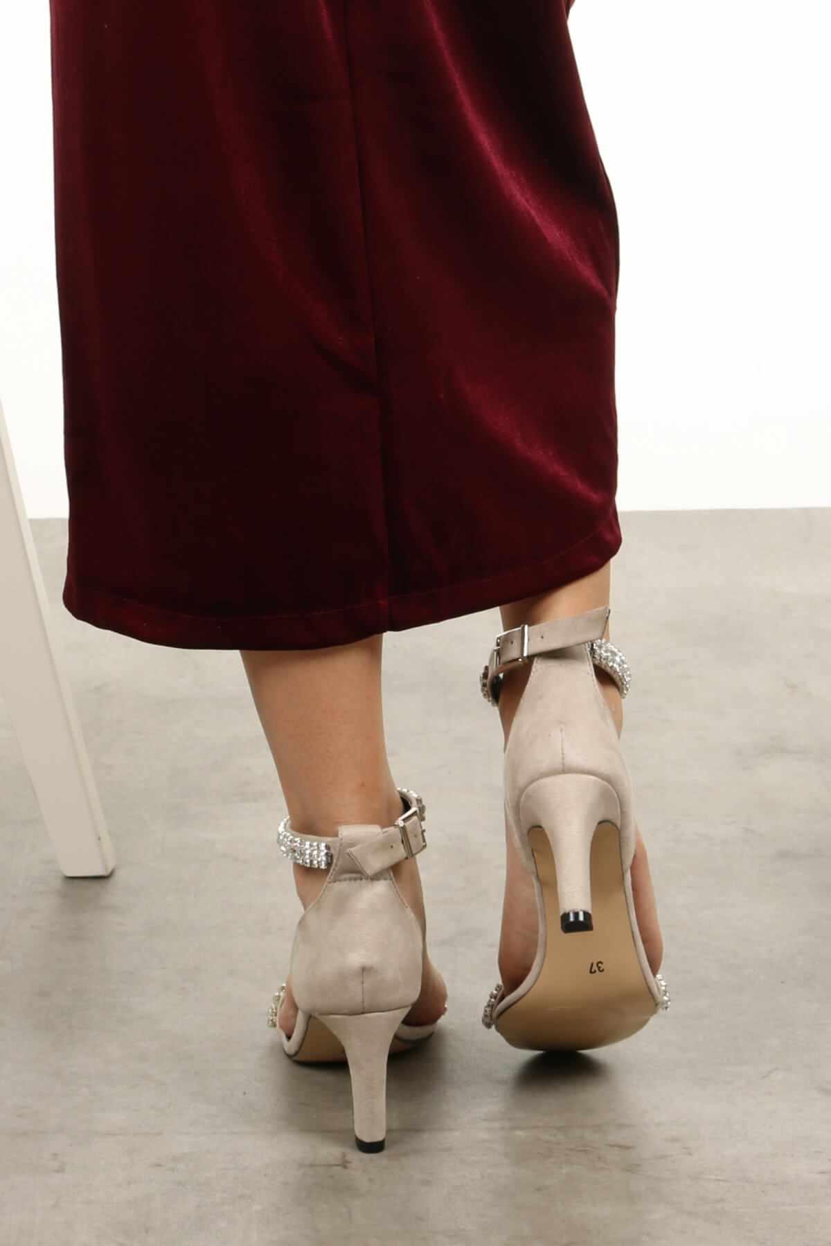 """Paris Màu Be Ngắn Gót Dạ Hội Giày Đế Bằng Dây Cột Nữ Giày Nữ Zapato De Mujer """"Tacon Giày Người Phụ Nữ Mỏng Gót Nhọn Nông máy Bơm"""