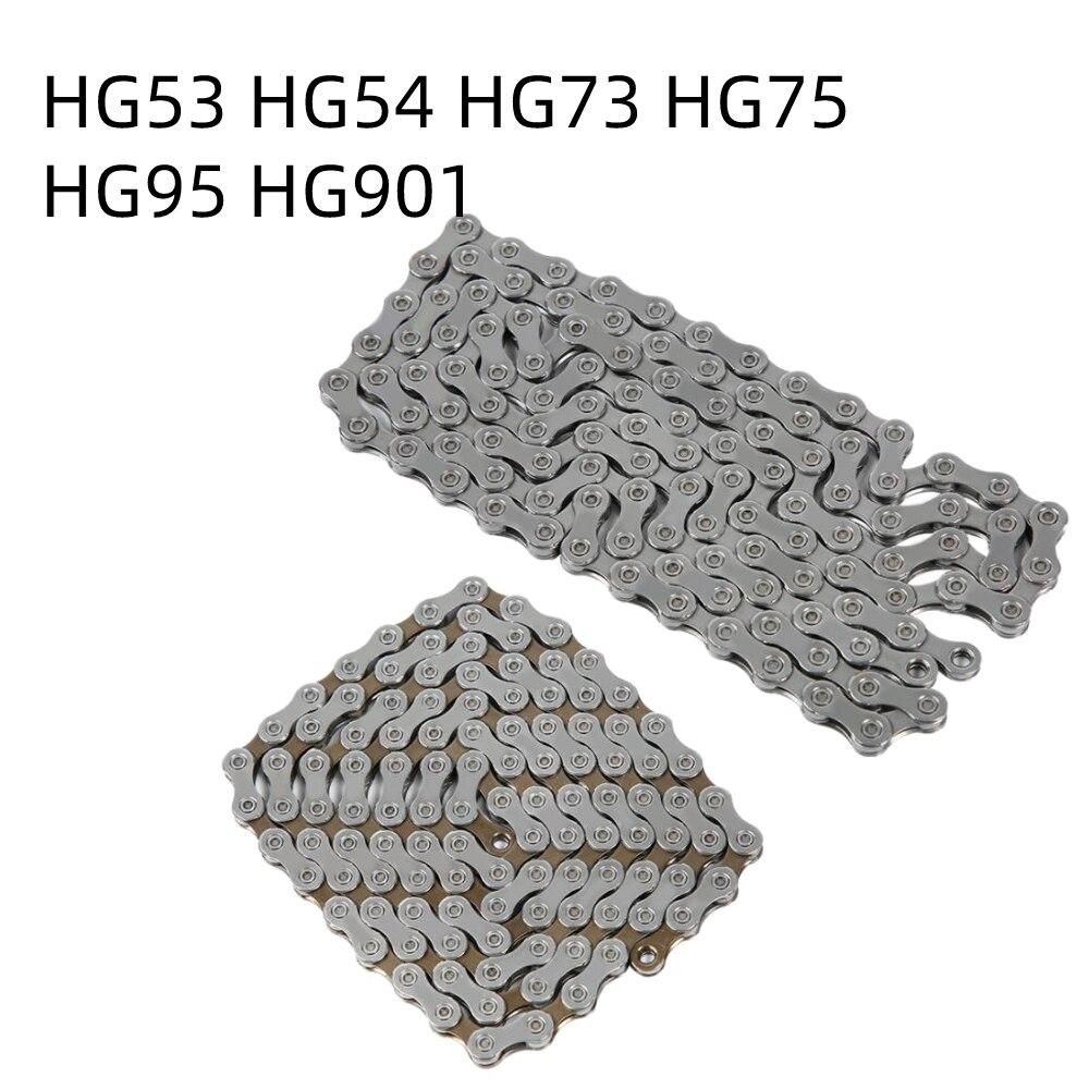 Цепь для велосипеда HG53 HG54 HG73 HG75 HG95 HG901, скорость 9/10/11, цепь для дорожного горного велосипеда, цепь для велосипеда 116/118 звеньев, цепи для гоночн...
