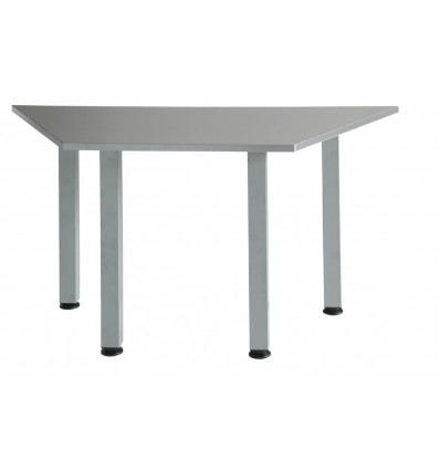 MODULATE TABLE TRAPEZOIDAL GRAY COLOR 140X70CM