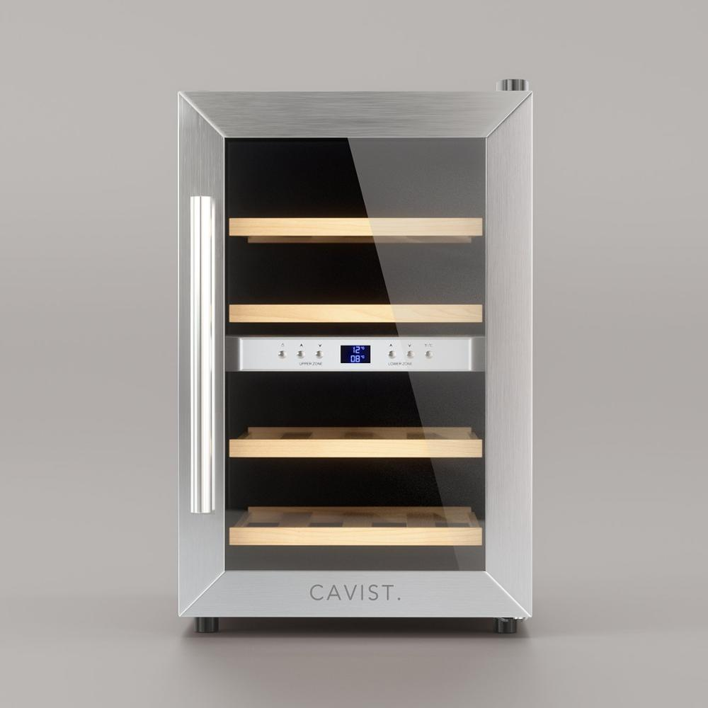Cavist Cavist12-Vinoteca For 12 Bottles, Steel Stainless, Plated, 48x34,5X54,3 Cm