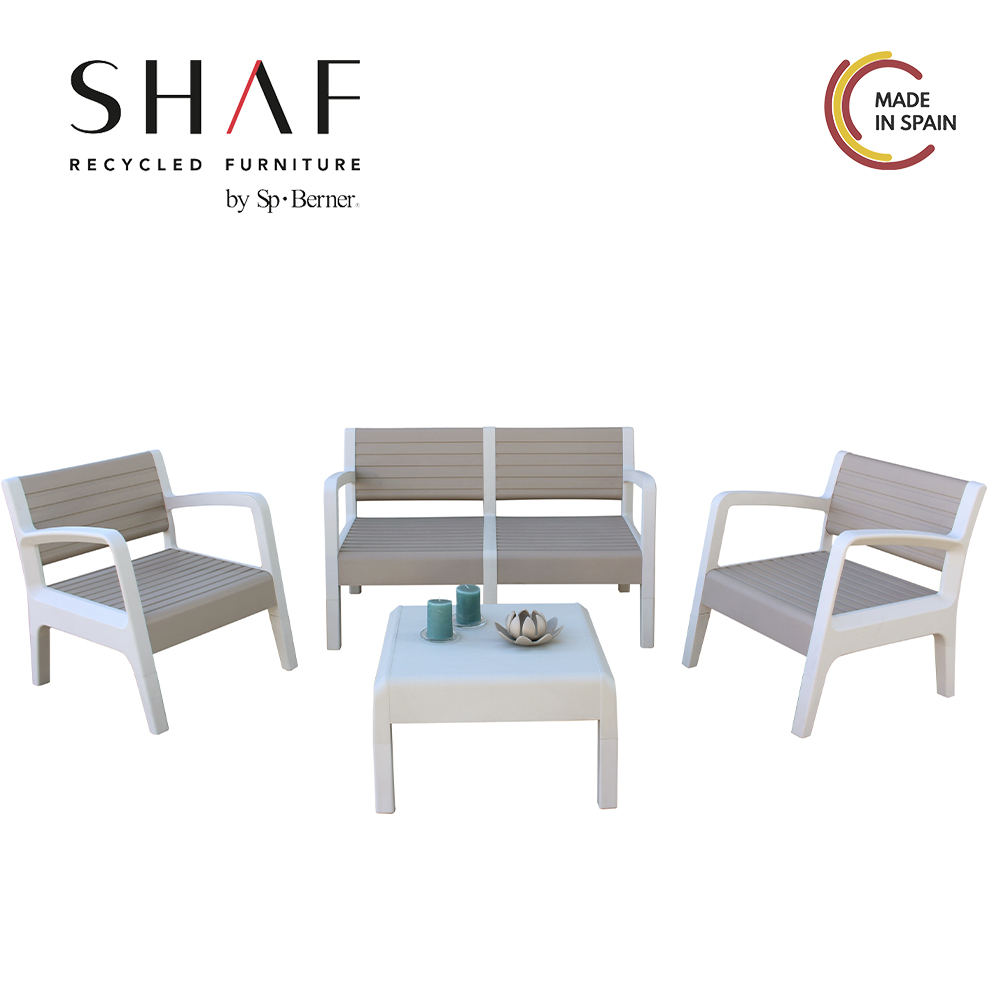 SHAF - Set MIAMI In Color Stone, Vison Or Antracite-ideal For Any Terrace Or Spaciousness Conjunto De Jardin De Foreign