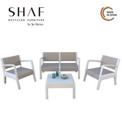 SHAF-ensemble MIAMI en pierre de couleur, vison ou antracite-idéal pour toute terrasse ou espace Conjunto de jardin de l'étranger
