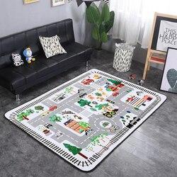 Enfants enfants tapis mousse escalade bébé ramper tapis velours microfibre chambre de bébé épais tapis de jeu rebond lent doux tapis