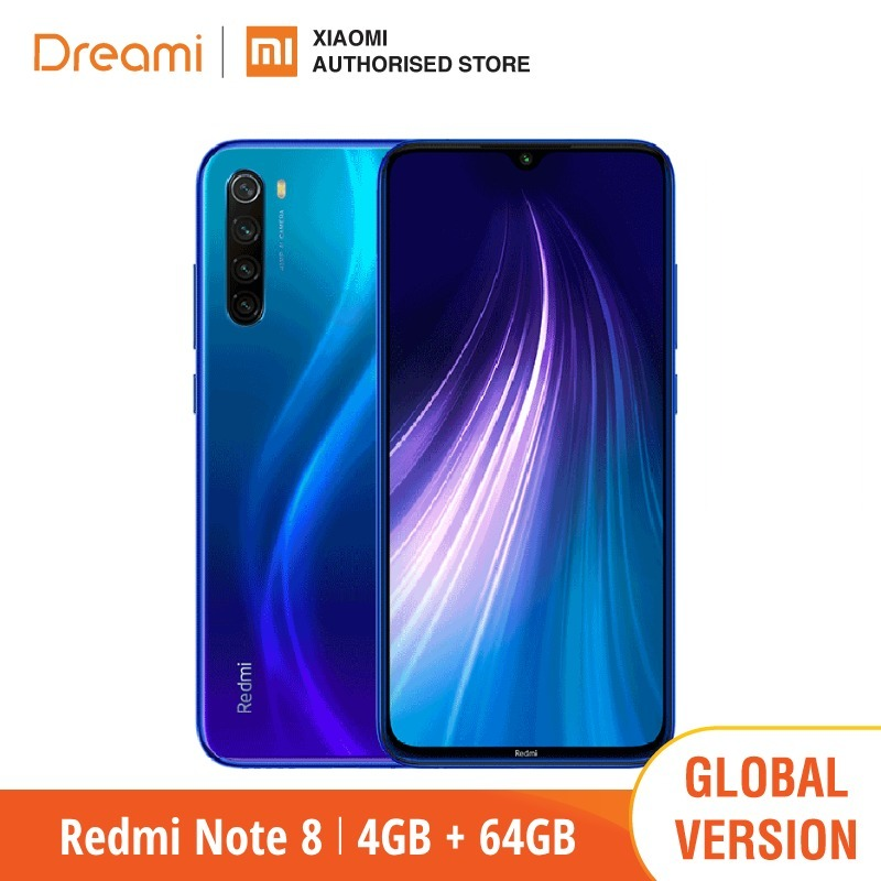 Global Version Redmi Note 8 64GB ROM 4GB RAM (Brand New and Sealed), note8 64gb Smartphone Mobile