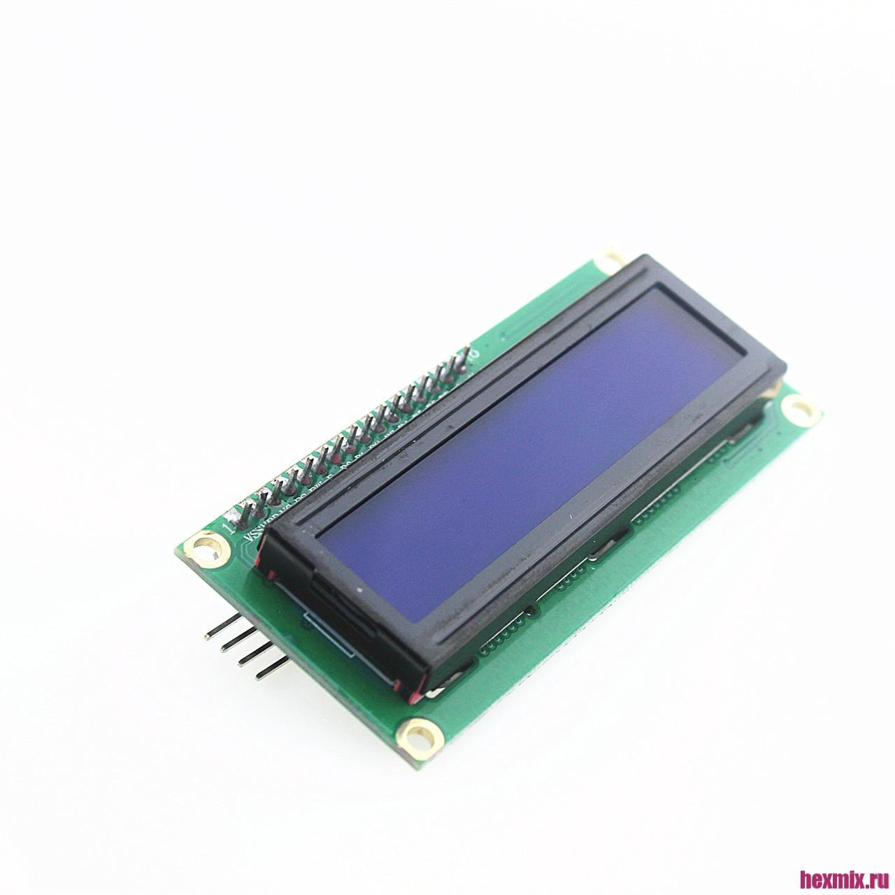 LCD 1602 I2C Display Symbol Blue