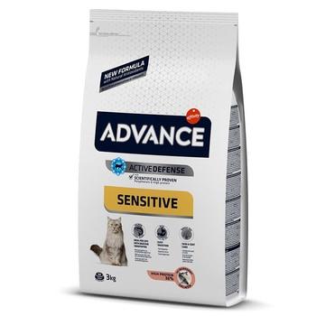 Advance Sensitive Adult Cat Food Salmon & Rice 3 Kg Healthy Growth Feeding Pet Immunity Flora Support