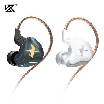 Auriculares KZ EDX 1DD HIFI con Monitor de oído, auriculares en los oídos, auriculares deportivos con cancelación de ruido, auriculares KZ ZSX ZAX ZS10 PRO ZSN